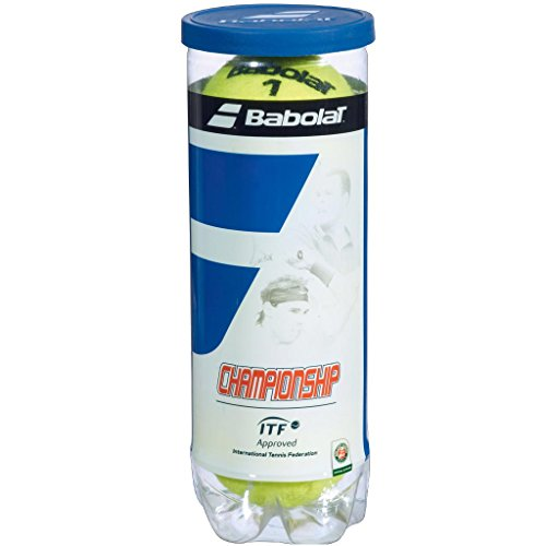Babolat 501039-113 Championship X3 Tennis Ball (Yellow) Pack of 3