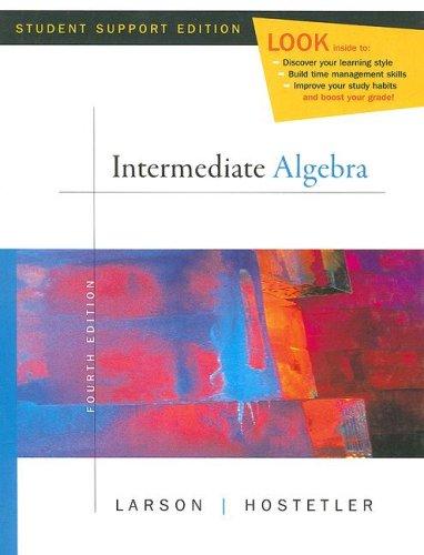 Intermediate Algebra - Fourth Edition