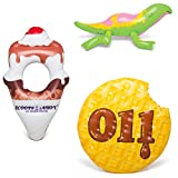 BigMouth Inc. Stranger Things Pool Party Bundle, Includes 3 Giant Pool Toys, Waffle Float, Dart Float and Scoops Ahoy Float