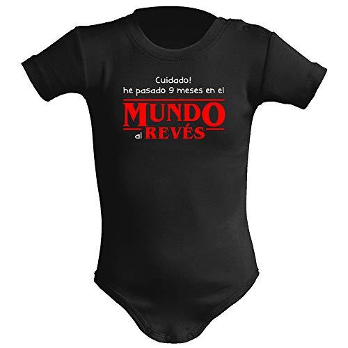 Body bebé unisex Mundo al revés (Stranger things - parodia). Regalo original. Body bebé friki,...