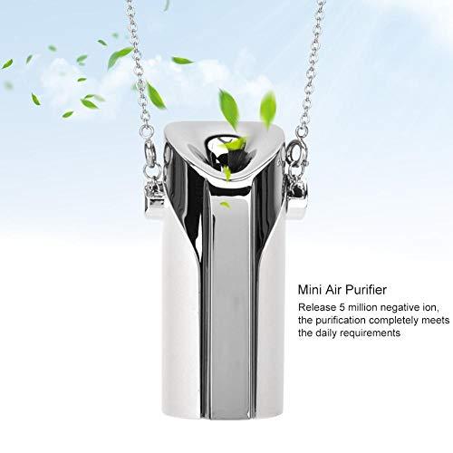 Nannday Tragbarer ionischer Luftreiniger, tragbarer USB-Luftfilter mit Halskette, Luftfilter mit persönlichem Negativionen und hängendem Hals, beseitigt Rauchgeruch, Gerüche, Staub, PM 2,5(Weiß)