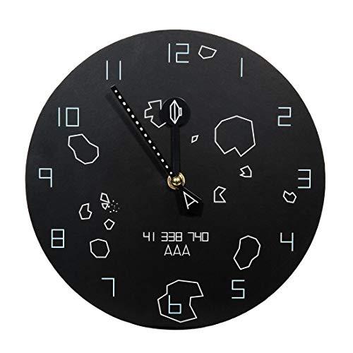 getDigital Asteroids Wanduhr - Nerd Uhr für Retro Arcade & Gaming Fans - Kreativer Geschenk-Artikel im eleganten Design