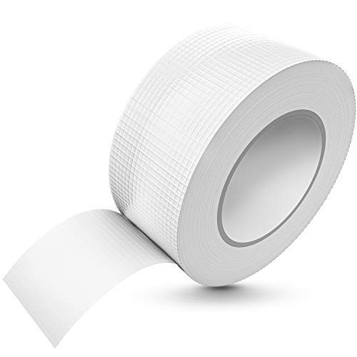TAPEFIX [50 m x 48 mm] Nastro adesivo bianco impermeabile estremo adesivo Correabile a mano I nastro in tessuto Gaffa, nastro adesivo per Duct