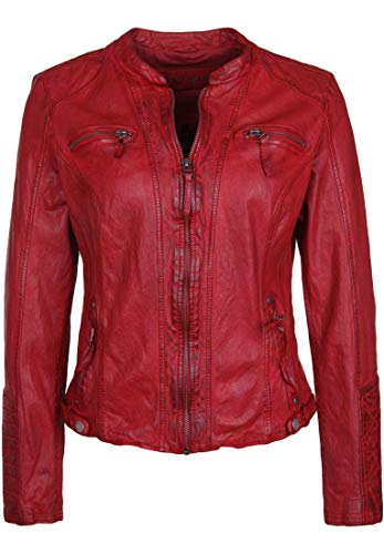 Freaky Nation Peggy Chaqueta, Rojo (Red 4001), Small para Mujer