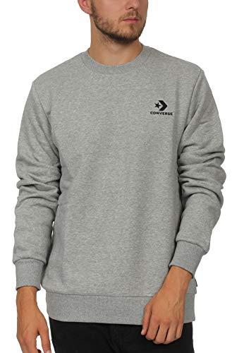 Converse Sweatshirt Herren Star Chevron EMB Crew 10008816 Vintage Grey Heather 035, Größe:XL