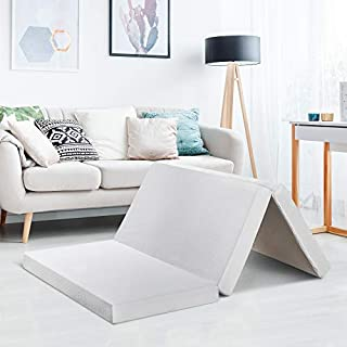 Best Price Mattress 4 Inch Trifold Memory Foam Mattress Topper with Cover, CertiPUR-US Certified, Cal King (B077BLSZ25) | Amazon price tracker / tracking, Amazon price history charts, Amazon price watches, Amazon price drop alerts