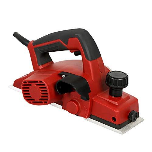 DYHQQ Elektrische Handhobelmaschine, 1050W Elektrische Handhobelmaschine für die Holzbearbeitung tragbare Holzhobelmaschine, rot