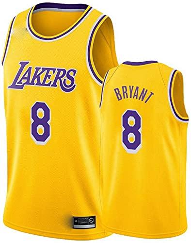 Bryant Basketball Jersey, Laker # 8 Malla Camisetas, fanáticos de los niños Uniforme Camiseta Tops Swingman Jersey (Color : Yellow, Size : XXX-Large)