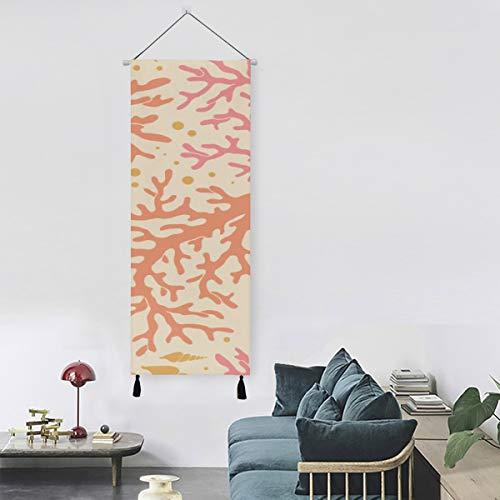 WYYWCY Schöne orange Koralle im Meer Wandfarbe Teen Wandkunst 13 Zoll Breite X 47 Zoll Lange Moderne Wohnkultur Leinwanddruck Schuhe Wandkunst Dekor im Freien