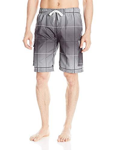 Kanu Surf Men's Legacy Swim Trunks (Regular & Extended Sizes), Vector Charcoal, 3X