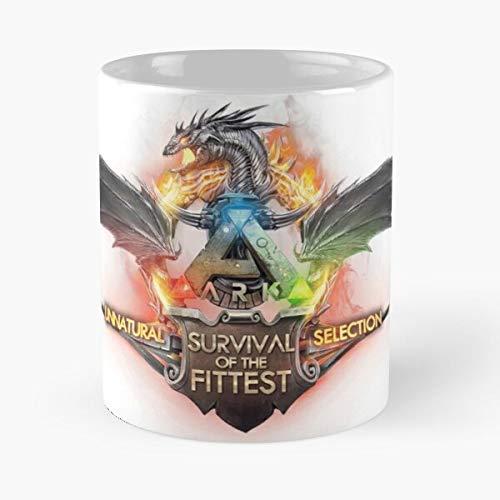 Ark Evolved Game Gaming Pc Survival Best 11 oz Kaffeebecher - Nespresso Tassen Kaffee Motive