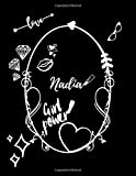 Nadia: Vintage Style Personalised Notebook/Diary/Journal For Women & Girls (110 Pages, in Lines, 8.5...