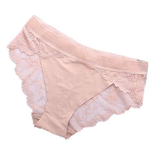 Höschen3Pcsfemale Transparente Spitzenhöschen Sexy Frauen Underwear S-Xl Plus Größe Briefs Nahtlose Dessous Softeis Seidenhöschen Hotm