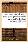 La redevance de M. Joseph Paoli et les quelques erreurs de la société des Eaux d'Orezza (Éd.1889)