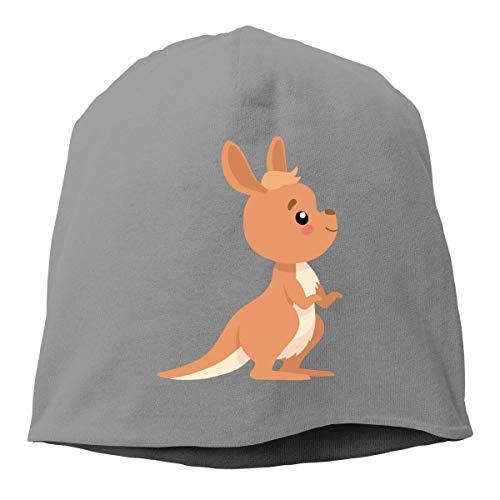 Sombrero Unisex Lindo Wallaby Style-1 Knit Beanies, Gorra de Calavera Hip-Hop, Gorro Holgado, Gorra de Reloj, Sombreros Lisos