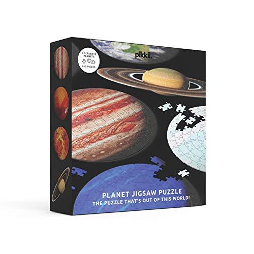 Puzle Planet JIGSAW - Puzle espacial de 8 partes, rompecabezas educativo, sistema solar, rompecabezas de tierra