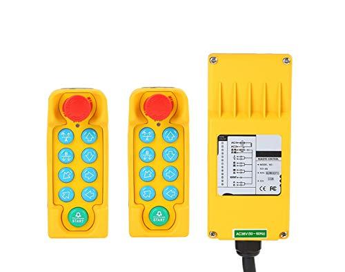MXBAOHENG PF21-8S - Grúa de control remoto para radio industrial (2 transmisores y 1 receptor), 36V