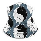 Yin Yang Cat Yoge Katze Unisex Sonnenschutz Schal Waschbar Balaclava Magic Scarf