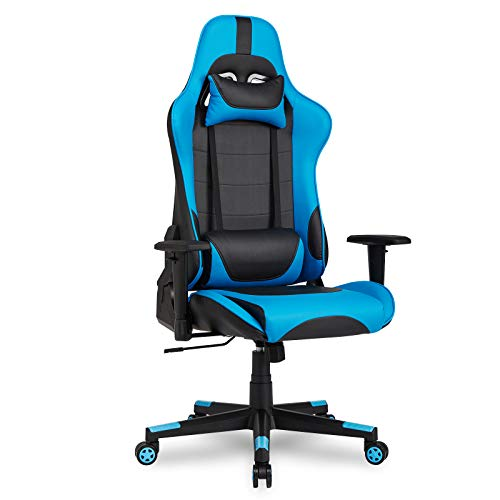 IntimaTe WM Heart Sedia da Gaming, Ergonomica 135 ° reclinabile Sedia da Gioco Schienale Regolabile , PU Poltrona Girevole sedia da Ufficio per Computer, Blu