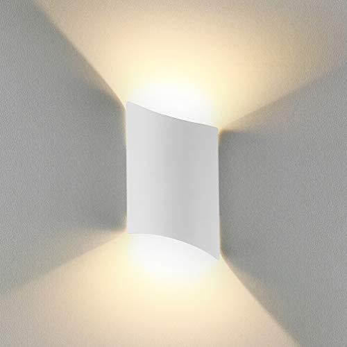 BELLALICHT LED Wandleuchte Innen Up Down Warmweiß, 12W LED Wandlampe Außen Wasserdicht IP65 Aluminium Modern Leuchte Wandlicht Wandbeleuchtung für Wohnzimmer Schlafzimmer Flur Treppenhaus Bad, Weiß