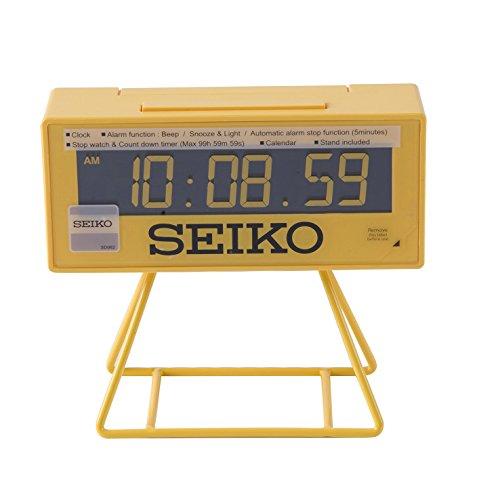 Seiko Unisex Wecker Digital Kunststoff schwarz QHL062Y