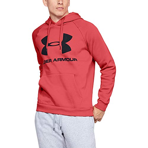 Under Armour Herren Rival Fleece Sportstyle Logo Hoodie, Martian Red, XS
