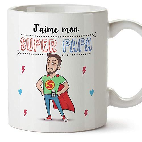 Mugffins Papa Tasse/Mug - J'aime Mon Super Papa - Tasse...