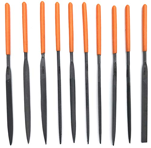GOBEST Métal de limes, précision aiguille mis 10 pcs 3 x 140 x 60 mm, en acier T12 (GB-0010)