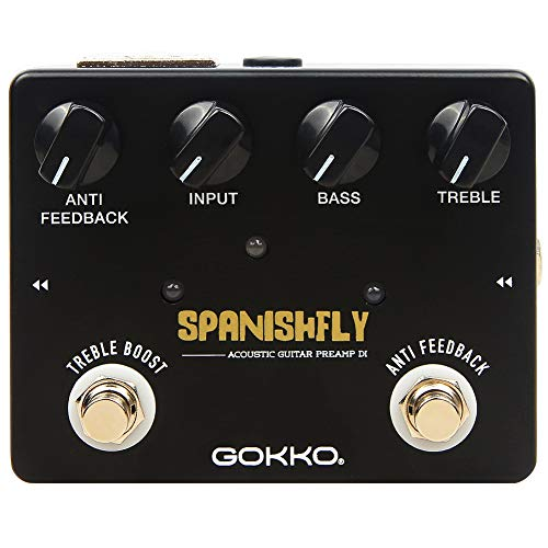 GOKKO AUDIO GK-32 Spanishfly Preamp DI Box For Acoustic Guitar