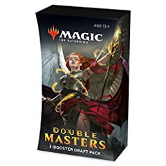 IT'S NOT DOUBLE VISION. Double Masters booster packs really do give you everything you love in an MTG booster—twice. TWO RARES. Each of Double Masters Draft Booster Pack contains not 1 but 2 rare or mythic rare Magic cards—at least. TWO FOILS. Every ...