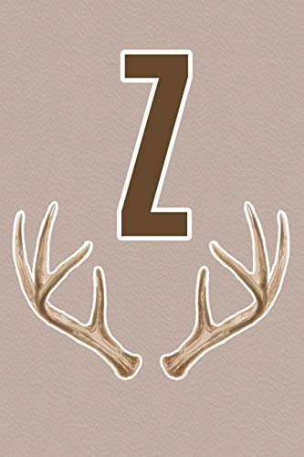 Z Deer Antler Monogram Initial Journal For Men Boys Teens Hunters And Outdoorsmen Upgraded Interior Includes Decorative Lined Pages