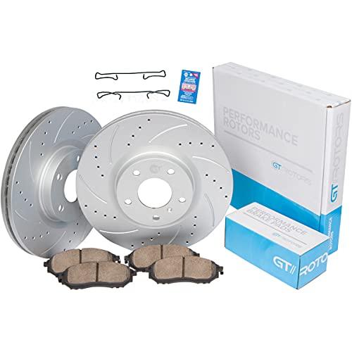 [Front Set] GEOMET Coated Performance Brake Disc Rotors & Ceramic Pads...