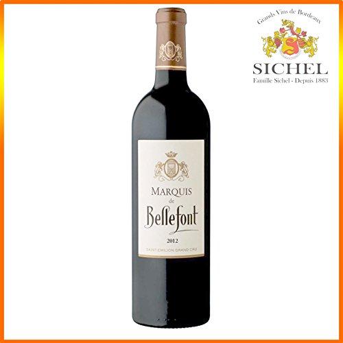 Marquis De Bellefont 2012 - AOC Saint-Emilion Grand Cru - Vin rouge - 75cL