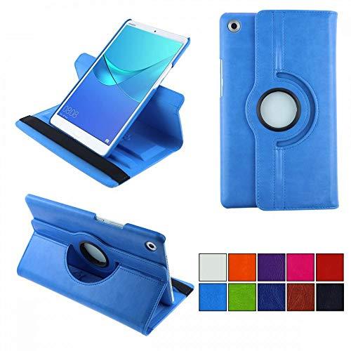 COOVY® 2.0 Cover für Huawei MediaPad M5 8.4 Rotation 360° Smart Hülle Tasche Etui Hülle Schutz Ständer Auto Sleep/Wake up   hellblau