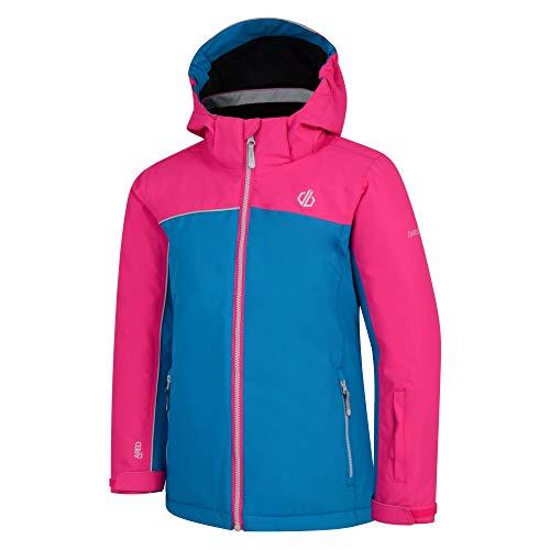 Dare 2b Unisex Kinder Legit wasserdichte und atmungsaktive Faltbare Skijacke mit Kapuze und hoher Loft-Isolierung und Schneefangjacke 3XL Atlantic Blue/Cyber Pink
