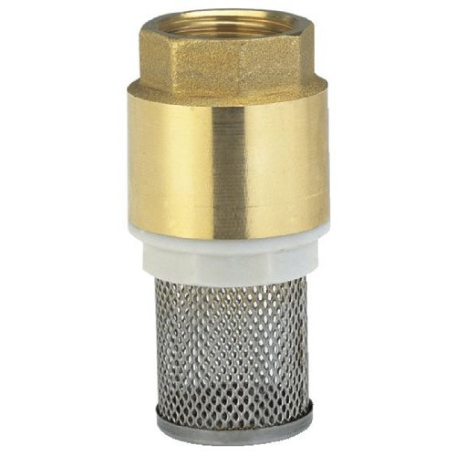 Gardena Messing-Fußventil: Rückschlagventil, 33.3 mm (G 1 Zoll)-Gewinde zum Anschluss an Pumpen, inklusive Saugkorb, Ventilkegel und Dichtung (7221-20)