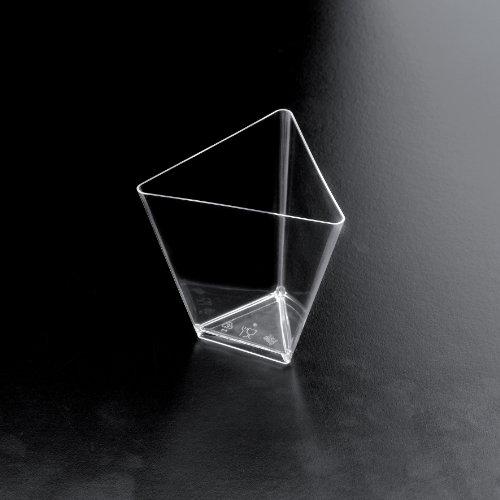Bicchierini Coppette Plastica Coppetta Triangolo 25pz Trasparente Finger Food Monoporzione Degustazione