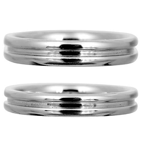 [ココカル]cococaru ペアリング シルバー リング2本セット マリッジリング 結婚指輪 日本製 (レディースサイズ7号 メンズサイズ12号)