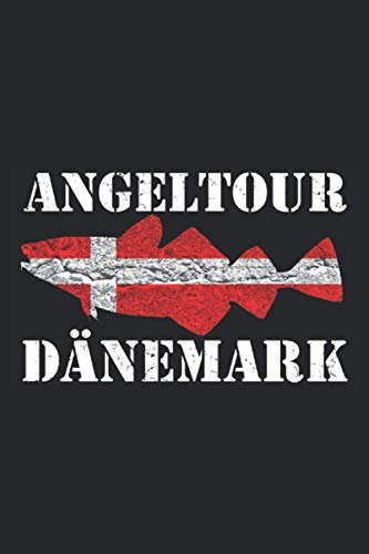Angeltour Dänemark: Angler Tagebuch zum Angeln in Dänemark - 100 Seiten 6'' x 9'' (15,24cm x 22,86cm) DIN A5 Kariert