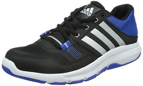adidas Gym Warrior .2, Zapatillas de Cross Training Hombre, Negro/Plata/Azul, 40 EU