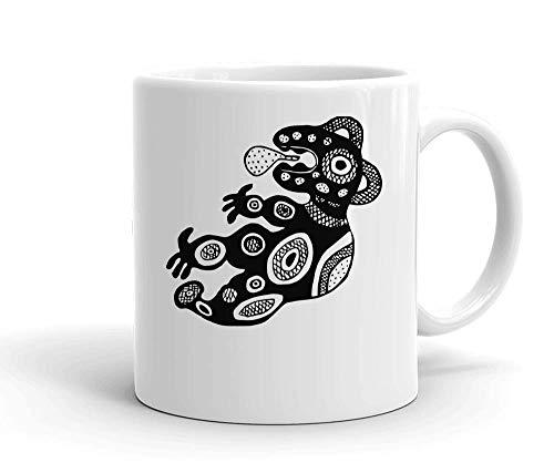 IDcommerce Artistic Creature Drawing Tasse en Céramique Blanche pour Le Thé Et Le Café