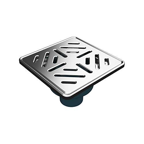 MERT Bodenablauf mit Edelstahlrost und Edelstahlrahmen (304), 150x150 mm, Senkrecht