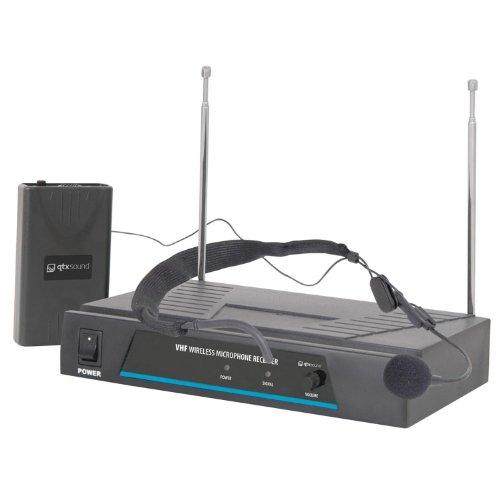 QTX Sound VN1 Funk-Mikrofon Headset Microphone System (50m Reichweite, inkl. Koffer und Batterien)