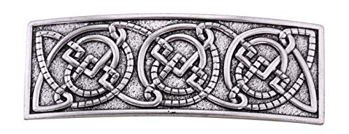 VASSAGO Antique Retro Harmony Celtic Irish Knot Trinity Triquetra Hairclip Barrette Hairpin Ponytail Holder for Women Girls (Antique Silver 4)