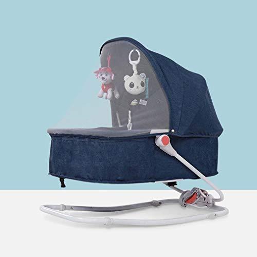 ZWQ kids Bébé Chaise à Bascule, Chaise bébé à Bascule, Chaise de Confort Nouveau-né endormi pour bébé 0-36 Mois,A