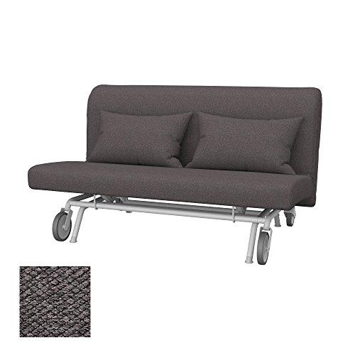 Soferia - IKEA PS Funda para sofá Cama de 2 plazas, Nordic Dark Brown