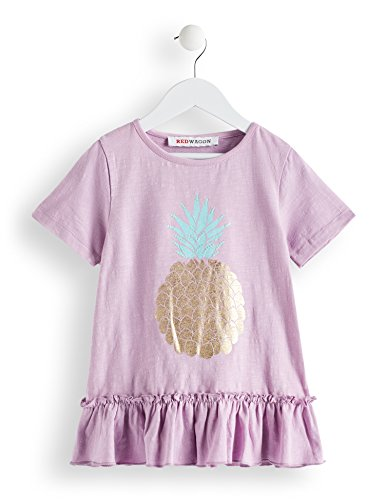 Amazon-Marke: RED WAGON Mädchen T-Shirt mit Ananas-Motiv, Violett (Lilac), 128, Label:8 Years