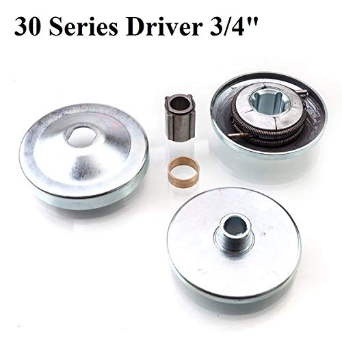 New 30 Series 6.5 HP Go Kart/Mini Bike Torque Converter Clutch Driver Pulley Replacement Comet Manco 212CC 3/4' Bore Max Torque
