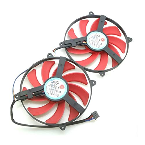 A Set FDC10U12D9-C DC12V 0.45A VGA Fan For AMD R9 Graphics Card Cooler Cooling Fan