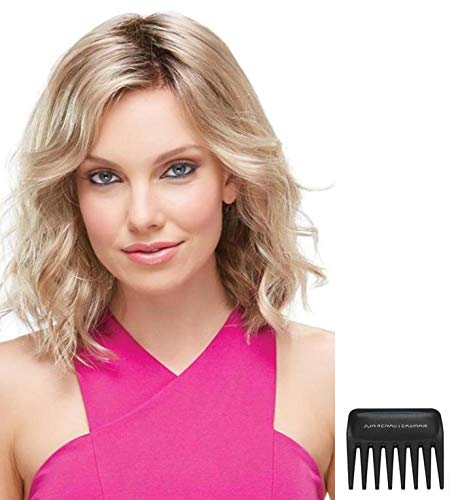 Bundle - 3 Items: Scarlett Wig by Jon Renau, Christy's Wigs Q & A Booklet & Wide Tooth Comb - Color: FS24/102S12